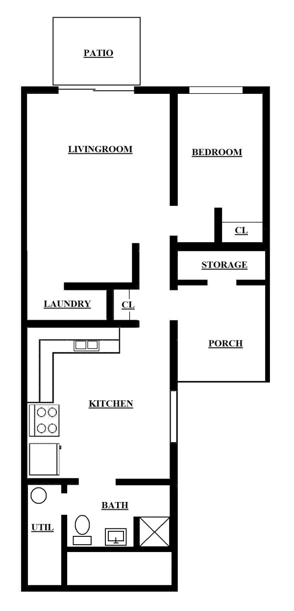 One Bedroom Apartments Bill House Plans